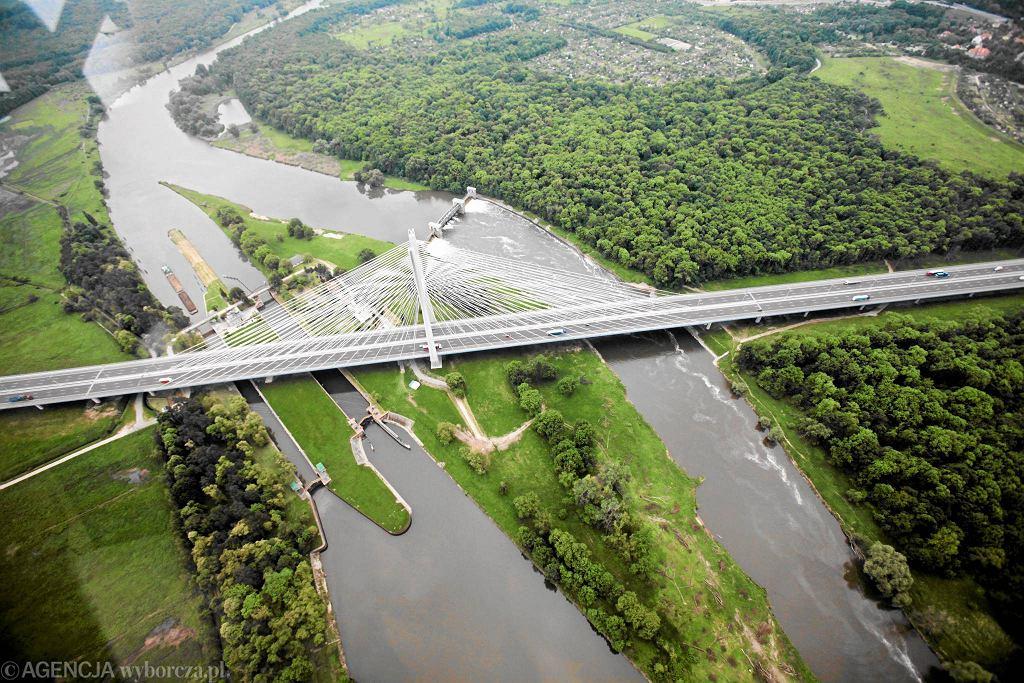 Most Rędziński (zdjęcia lotnicze)