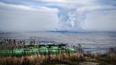 Elektrownia i kopalnia odkrywkowa PGE Turów. Bogatynia, 17 stycznia 2020