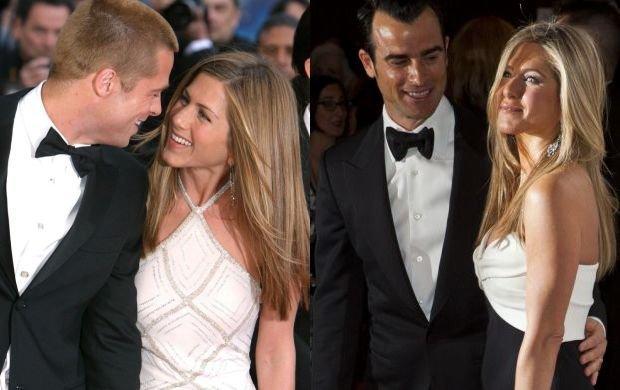 Brad Pitt i Jennifer Aniston, Justin Theroux i Jennifer Aniston