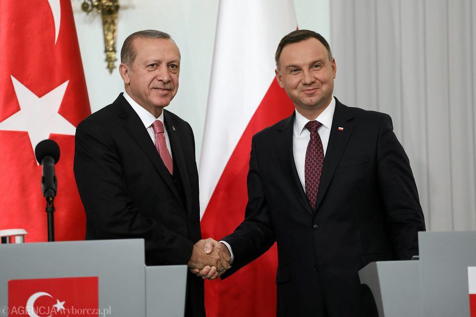 17 października 2017 r., prezydent Turcji Recep Erdogan z Andrzejem Dudą