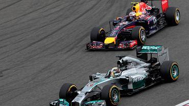 Grand Prix Chin 2014. Lewis Hamilton i Sebastian Vettel
