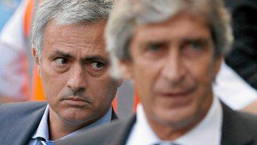 Jose Mourinho i Manuel Pellegrini, trenerzy Chelsea i Manchesteru City, które walczą o mistrzostwo Anglii