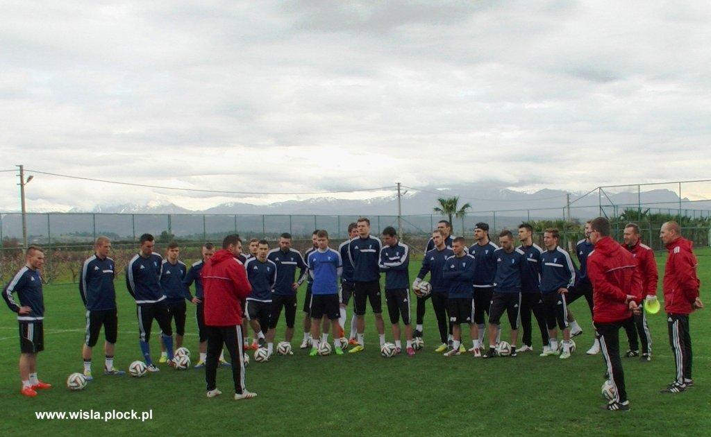 Piłkarze Wisły podczas zgrupowania w Turcji