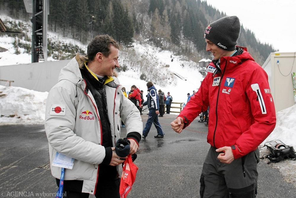 Adam Małysz i Gregor Schlierenzauer w Predazzo