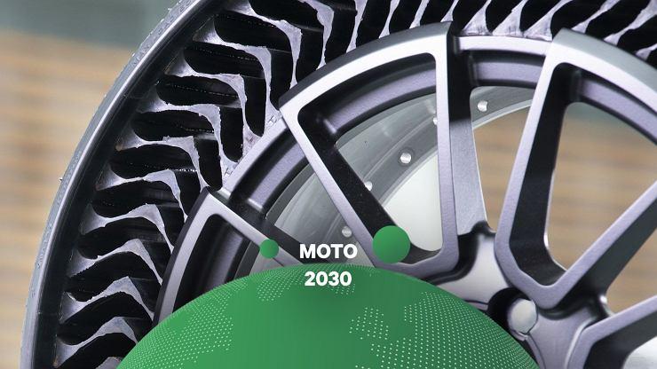 Opony są okrągłe, czarne i takie też zostaną w przyszłości, ale producenci próbują wymyślić je na nowo [MOTO 2030]