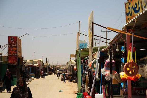 Ulica - bazar w obozie Zaatari