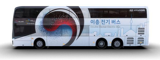 Elektryczny dwupoziomowy autobus Hyundaia