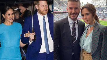 Meghan Markle, książę Harry, David Beckham, Victoria Beckham