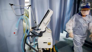 Respirator w szpitalu w USA.