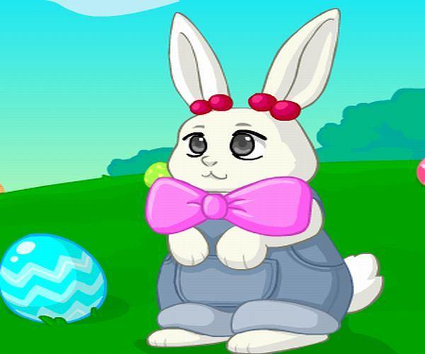 Ubieranka: Ubierz króliczka!