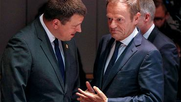 Donald Tusk z premierem Estonii na szczycie UE