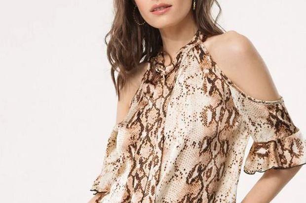 ubrania maskujące szerokie ramiona