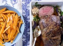 Pieczeń wołowa i pieczone bataty - ugotuj