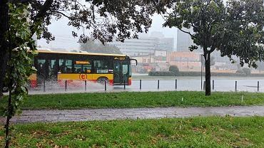 Warszawa w deszczu