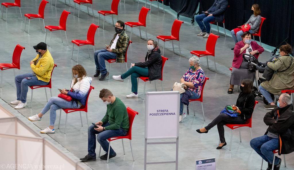 Punkt szczepień w Bydgoszczy, 5 maja 2021 r.