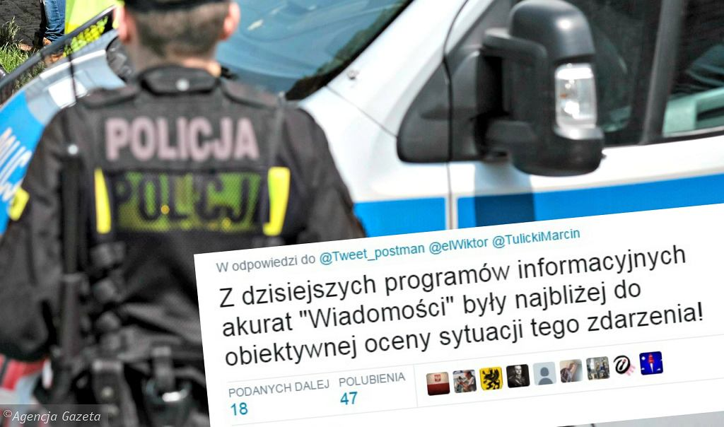 Policja komentuje na Twitterze