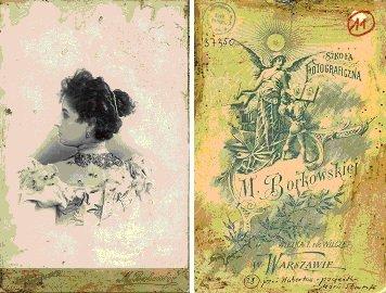 Pani Hubertow, pacjentka Marii Jadwigi Strumff, lata 90. XIX w. Zakład fotograficzny M. Borkowska (1895-1920).
