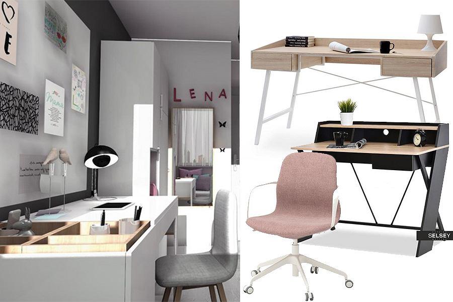 Miejsce do nauki - biurka i fotele