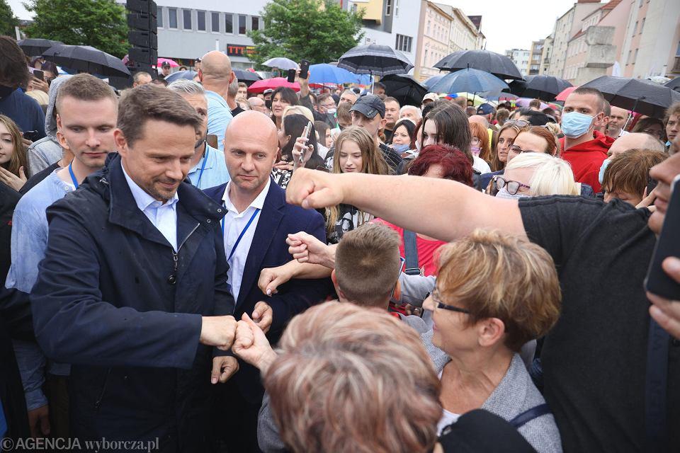 Wybory prezydenckie 2020. Rafał Trzaskowski w Pile.