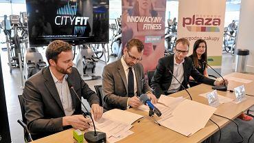 Podpisanie umowy sponsorskiej pomiędzy Developresem SkyRes Rzeszów a Klubem Fitness CityFit