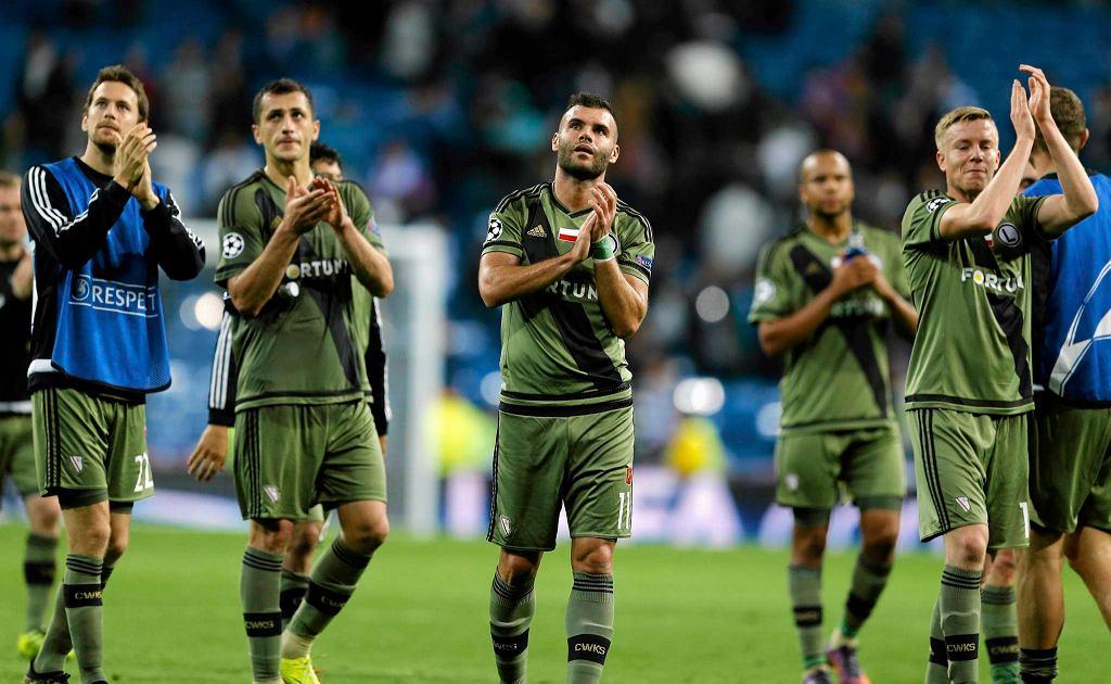 Piłkarze Legii po porażce z Realem w Madrycie 1:5