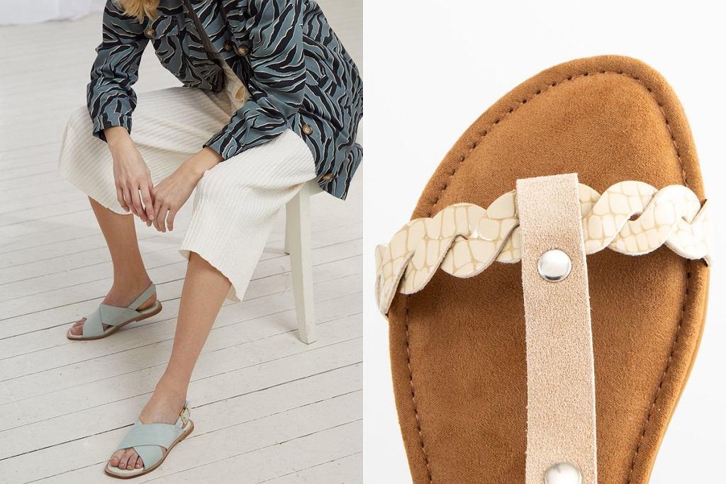 płaskie sandały skórzane