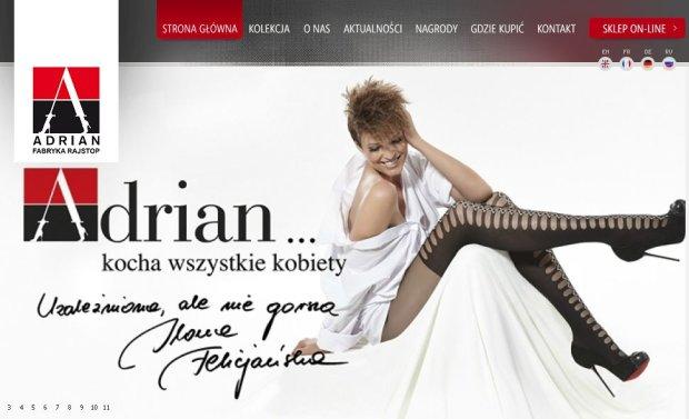Ilona Felicjańska, reklama rajstop Adrian
