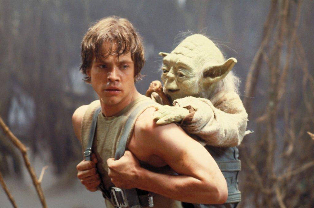 Luke Skywalker i Yoda,
