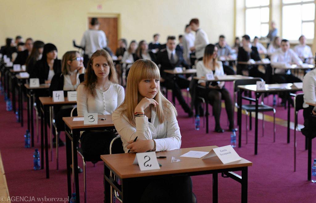 Egzamin w gimnazjum nr 16 w Bydgoszczy