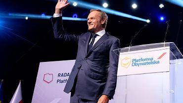 Donald Tusk podczas Rady Krajowej Platformy Obywatelskiej