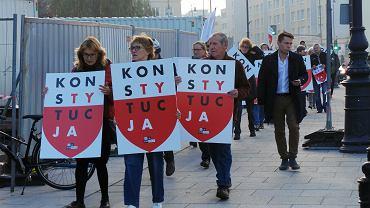 11 października 2018 r., plac Krasińskich w Warszawie. Protest pod Sądem Najwyższym