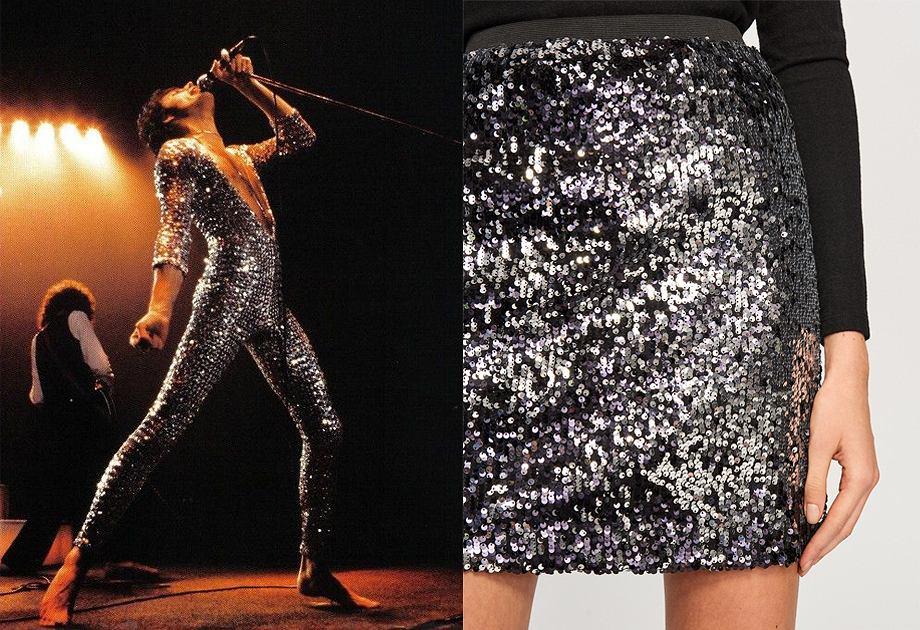 Cekiny to ważny element stylu glam rock. Cekinowa spódnica Reserved sprawdzi się na sylwestra i podczas karanwału