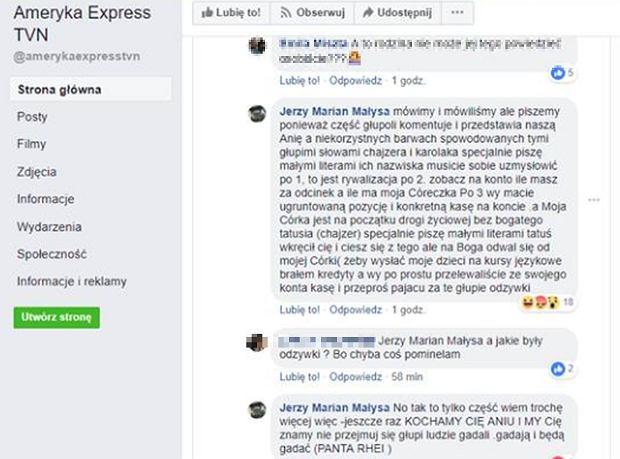 'Ameryka Express'. Ojciec Anny Małysy komentuje program