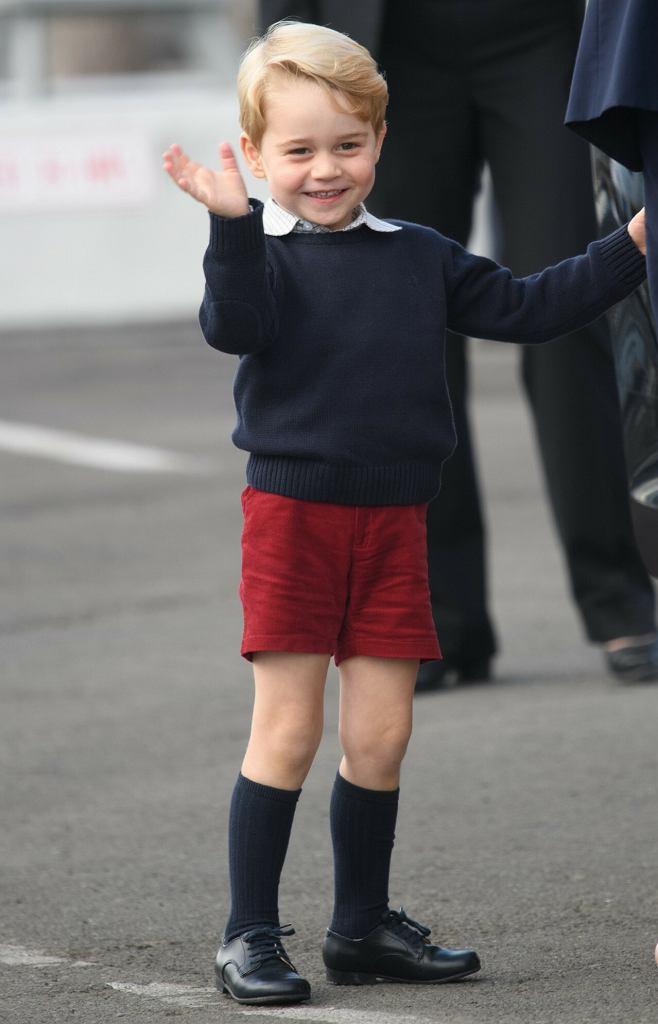 Książę George w czasie wizyty w Kanadzie w 2016 roku