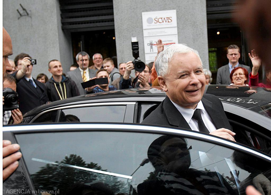 Prezes PiS Jarosław Kaczyński wizytuje Kopalnię Wujek. Katowice, 7 maja 2014