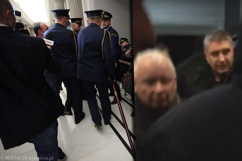 Jarosław Kaczyński opuszcza Sejm