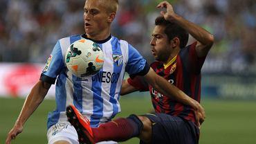 Malaga - Barcelona 0:1. Bartłomiej Pawłowski i Jordi Alba