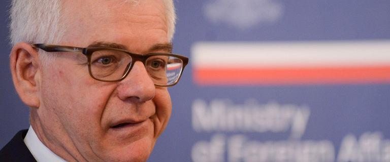 Czaputowicz o Francji: Chory człowiek, ciągnie Europę w dół