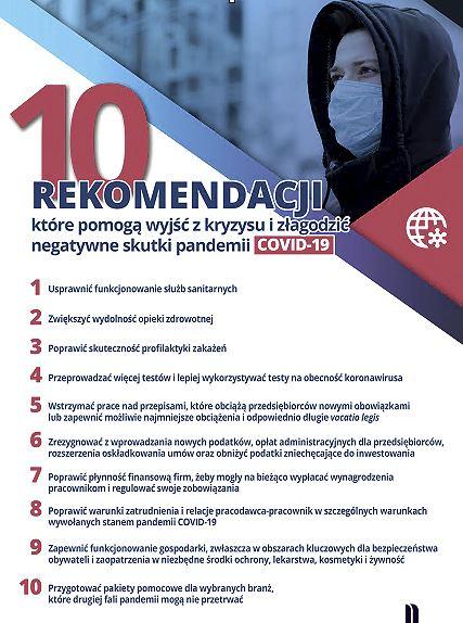 10 rekomendacji, które pomogą wyjść z kryzysu i złagodzić negatywne skutki pandemii Covid-19.
