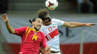 Grzegorz Krychowiak podczas meczu z Czarnogórą