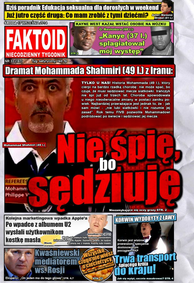 Faktoid, 17 września 2014, nr 33 (187) -  - Gazeta.pl