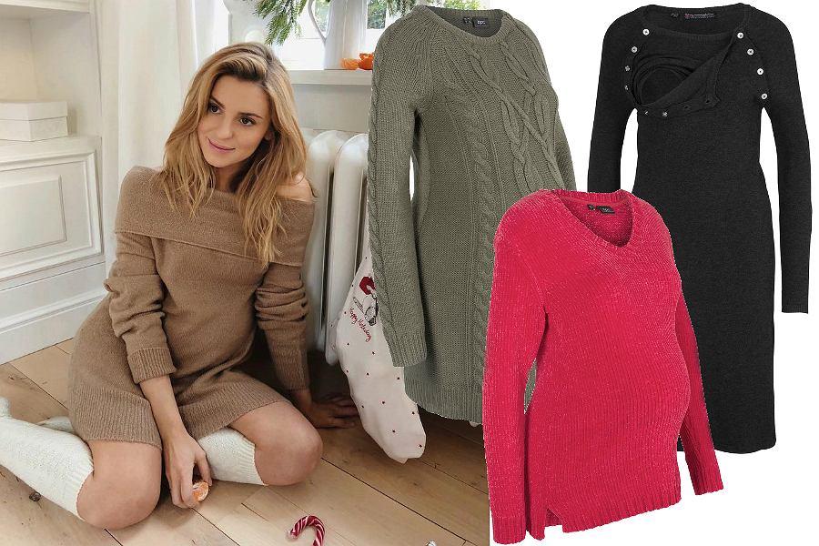 Ciążowe sukienki i bluzki na zimę