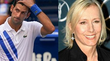 Martina Navratilova skrytykowała Novaka Djokovicia