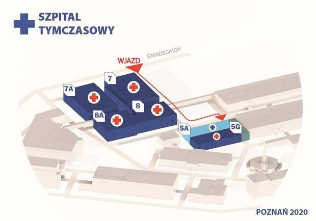 Szpital na terenie MTP