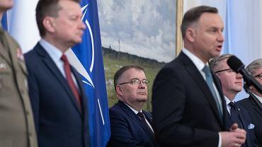 Sekretarz stanu w Kancelarii Prezydenta RP Andrzej Dera, prezydent Andrzej Duda