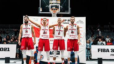 Brązowi medaliści mitzrostw Europy w koszykówce 3x3 zawitaja do Gdańska. Od lewej: Szymon Pawłowski, Łukasz Diduszko, Przemysław Zamojski i Szymon Rduch