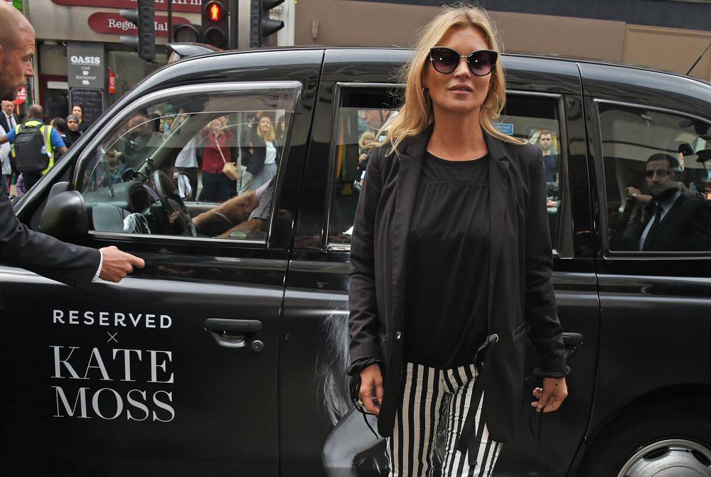 Kate Moss podczas otwarcia Reserved na Oxford Street