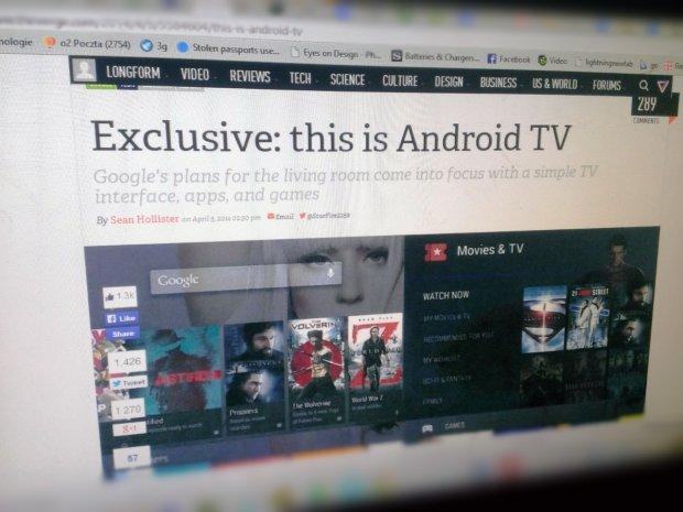 Według The Verge Google kończy prace nad Android TV.