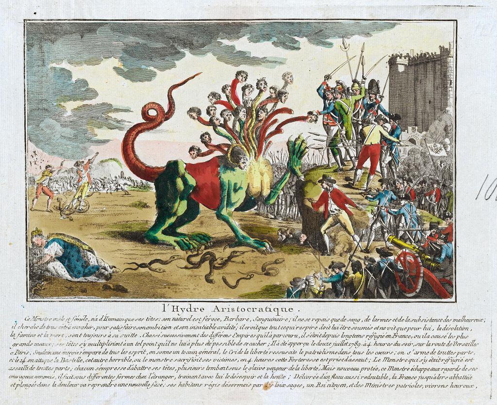 Wystawa 'Czym jest Oświecenie?' w Muzeum Sztuki Nowoczesnej. Autor nieustalony, 'Hydra arystokratyczna', 1789-1799 / BUW