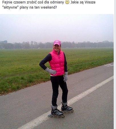 Agnieszka Radwańska przy krakowskich Błoniach